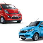 How does Tata Nano Electric compare with Mahindra E2O Plus?